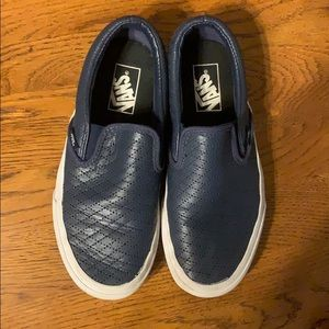 Slip on leather vans